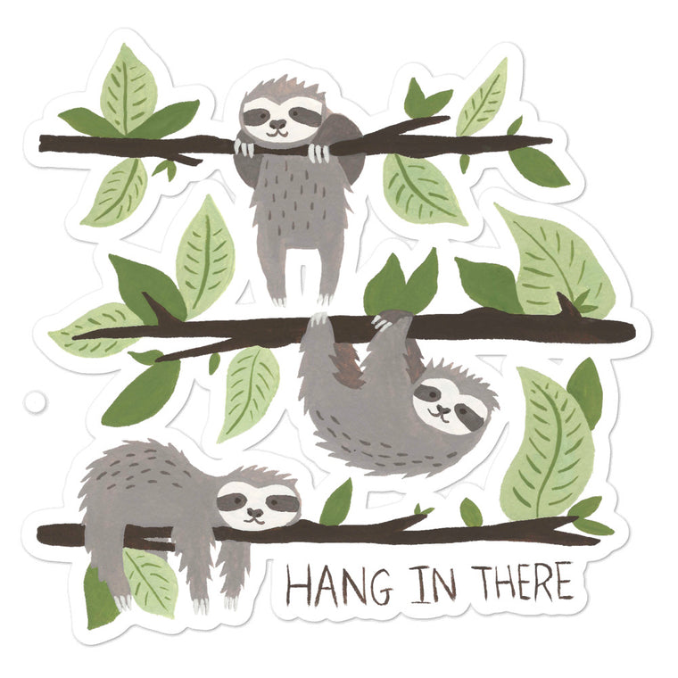 Watercolor Hang in There Bubble-free stickers