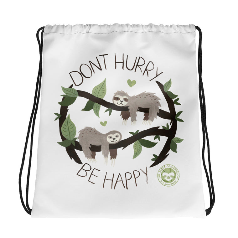 Watercolor Don´t Hurry Drawstring bag