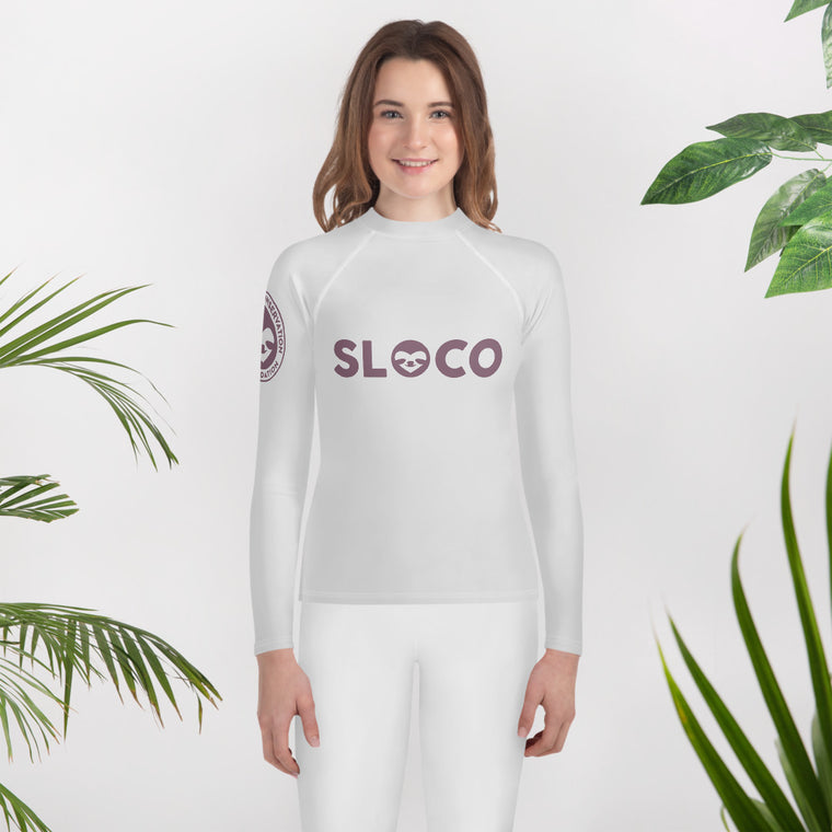 Youth Rash Guard SloCo Crimson