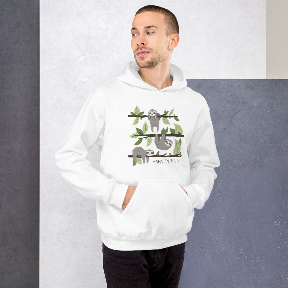 Watercolor Hang in There Men  Hoodie