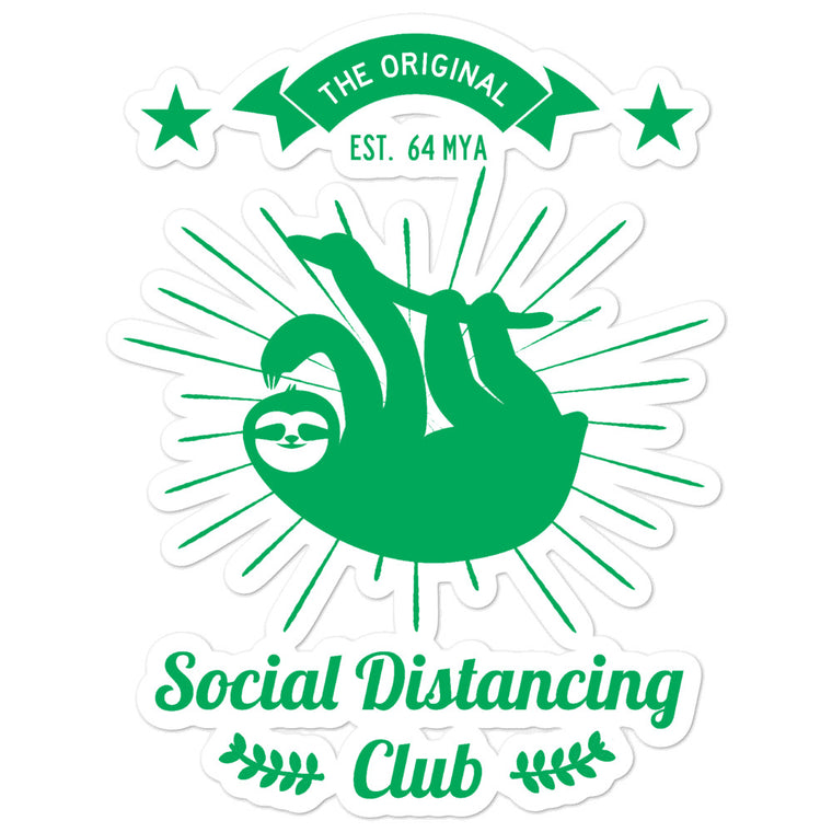 Social Distancing green Bubble-free stickers