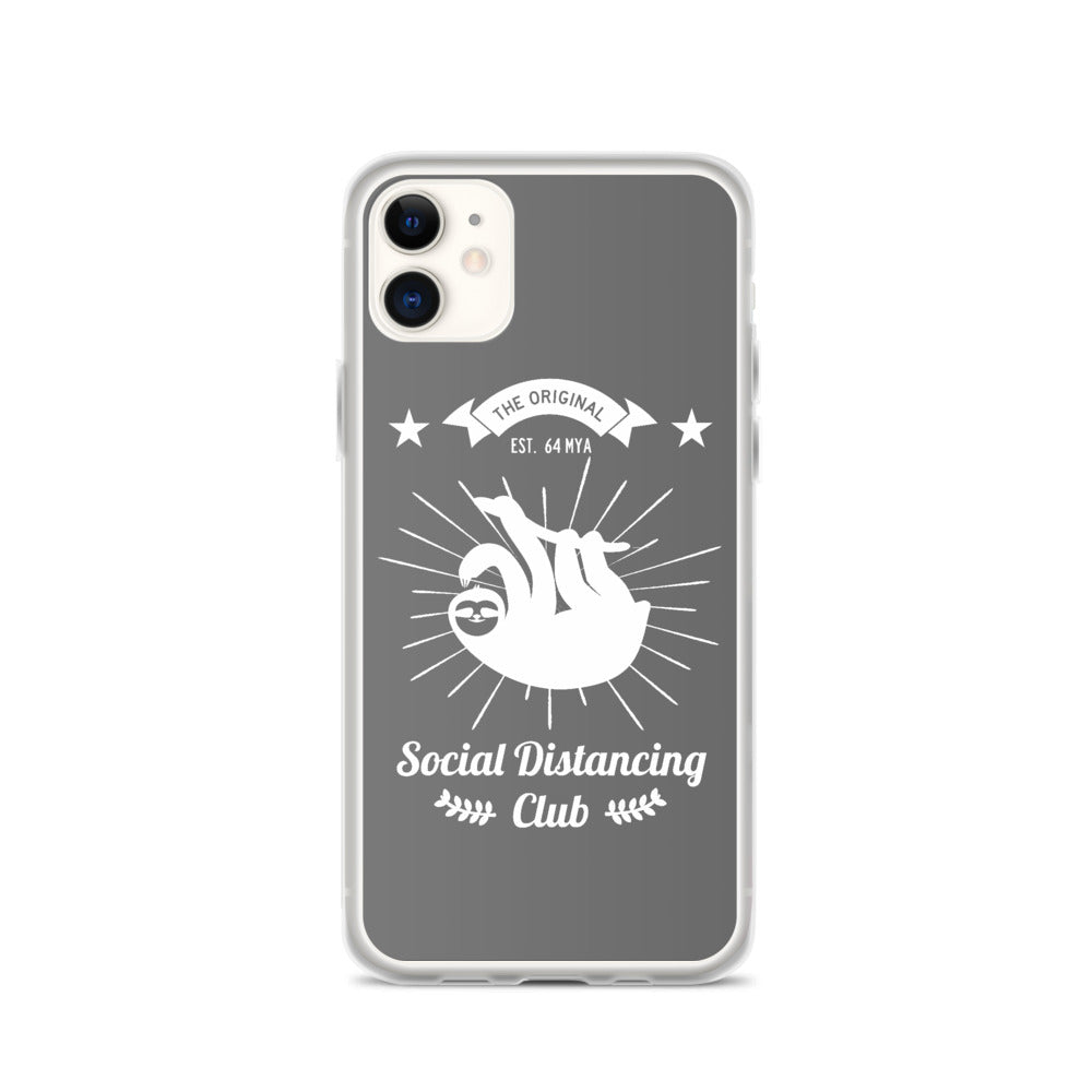 iPhone Case Social Distancing Club (white print)