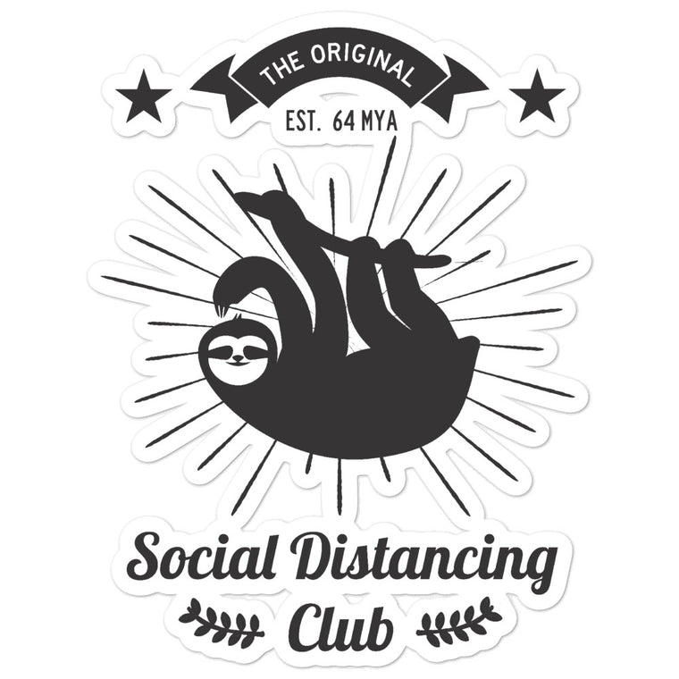 Social Distancing Black Bubble-free stickers
