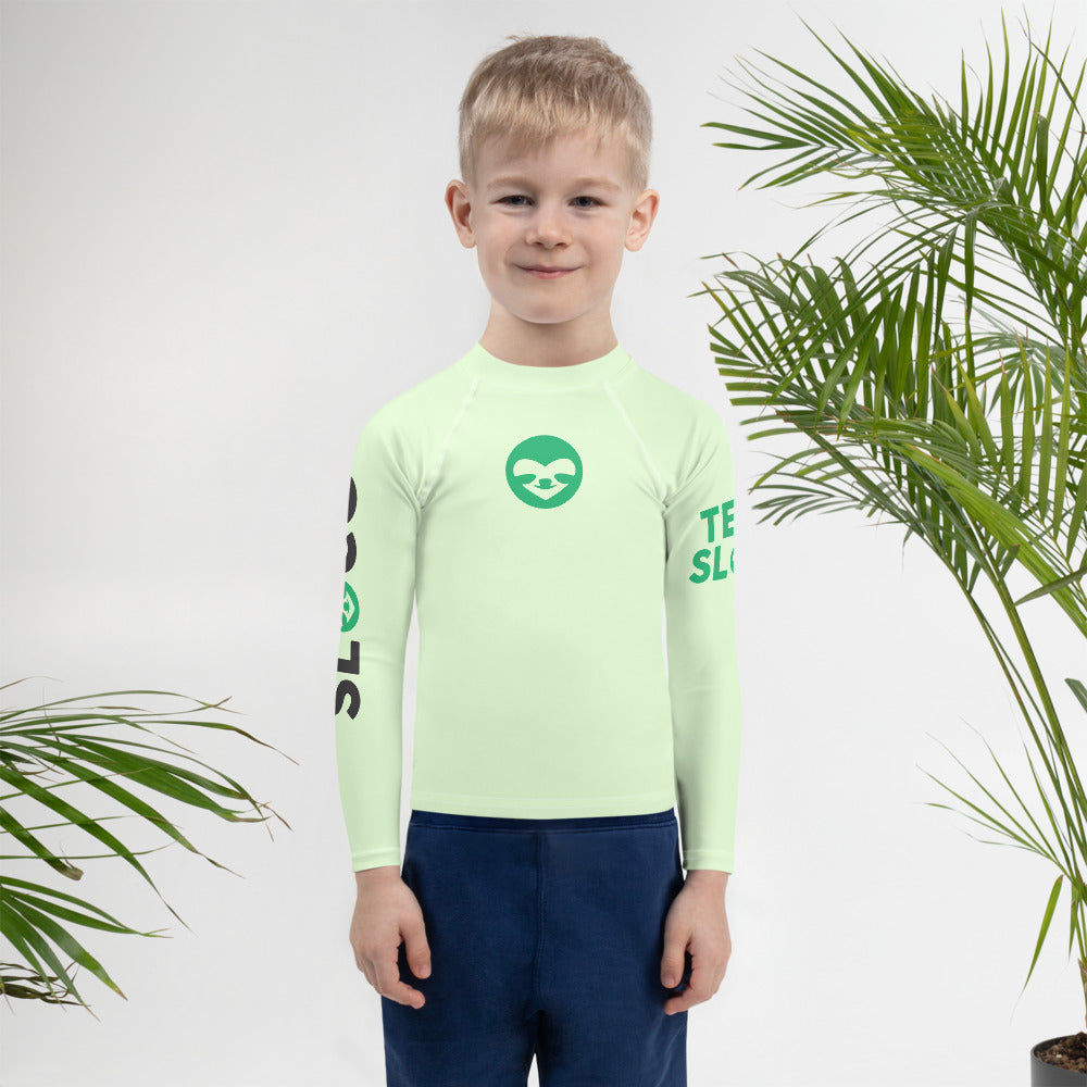 Kids Rash Guard SloCo Green