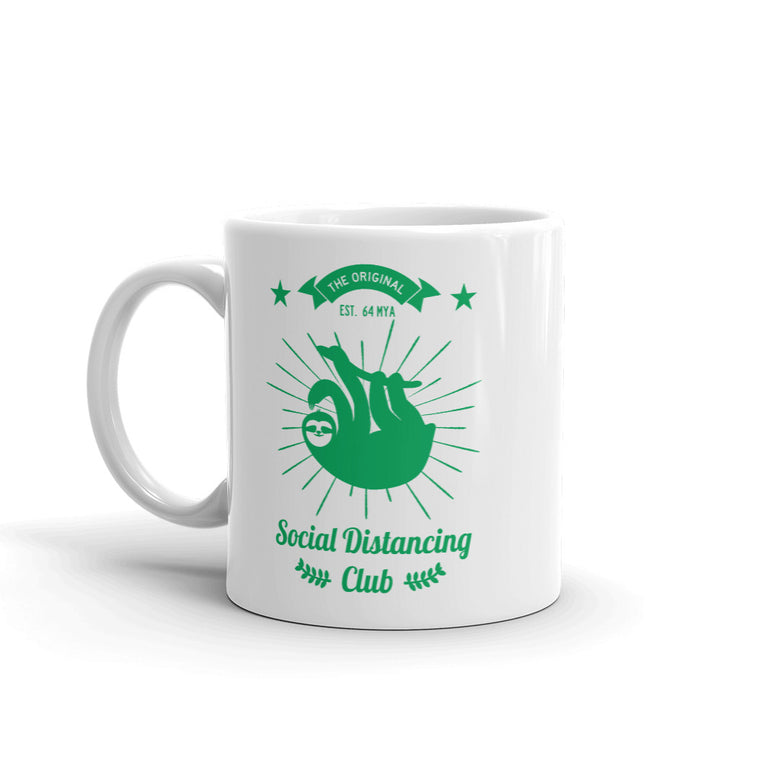 Social Distancing Club (green) Mug