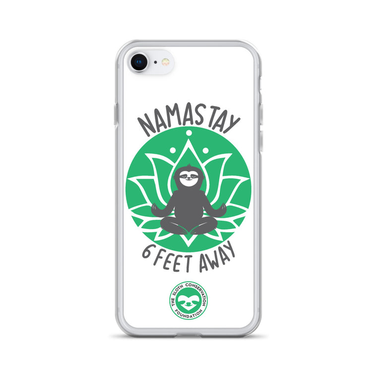 iPhone Case Namastay green print
