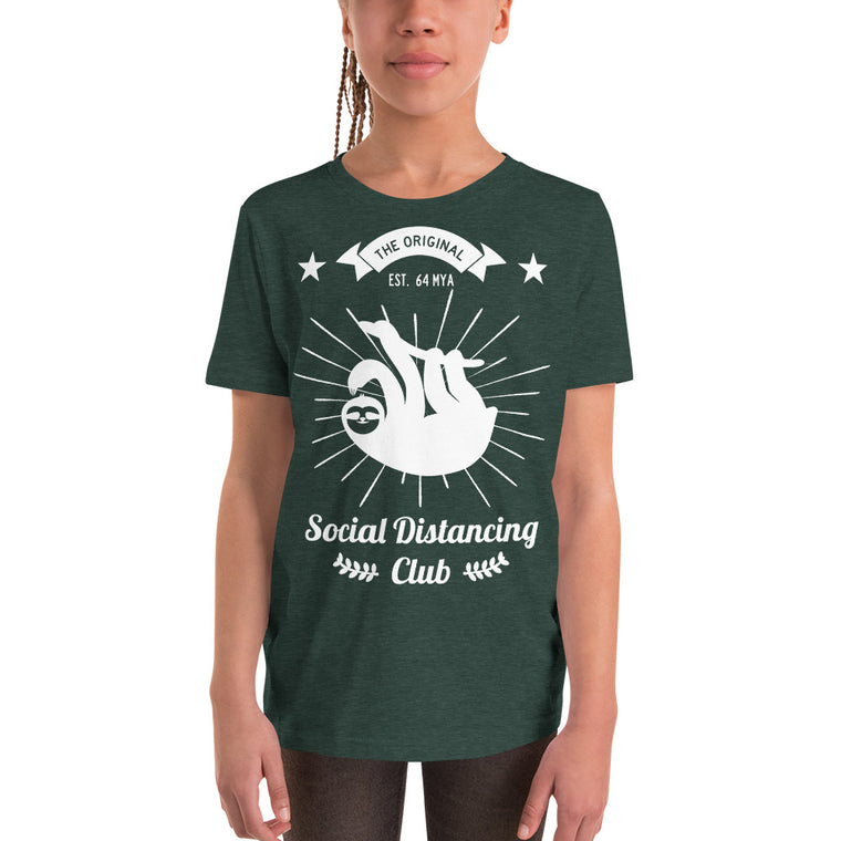Social Distancing Club White Print T-Shirt KIDS