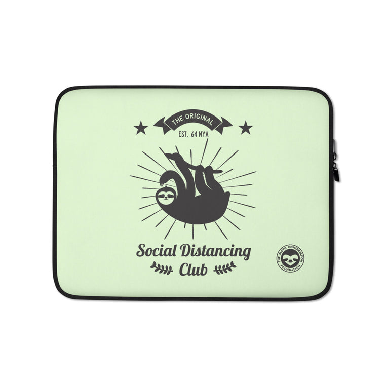 Social Distancing Club (Black print) Laptop Sleeve