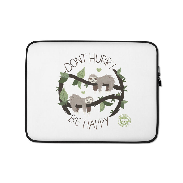 Watercolor Don´t Hurry Laptop Sleeve