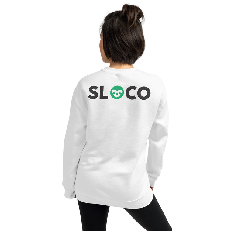 SloCo (pocket logo +back print) Women Sweatshirt