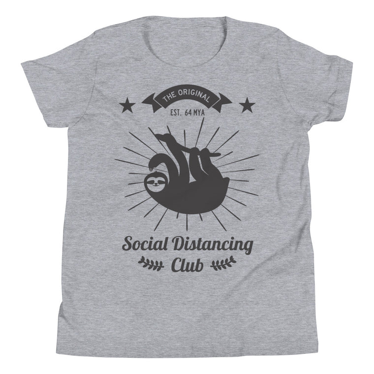 Social Distancing Club Black Print T-Shirt KIDS