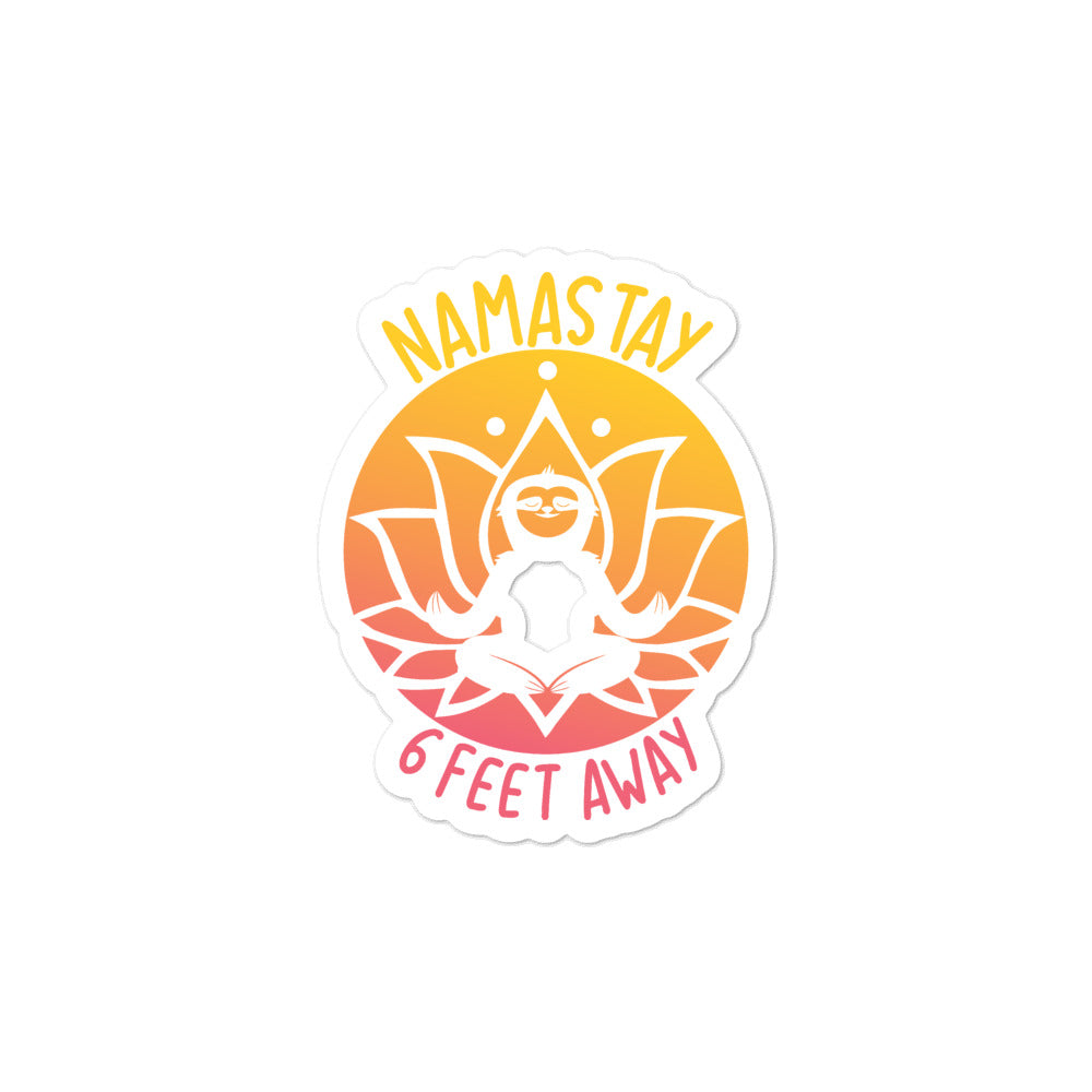 Namastay Sunset Bubble-free stickers