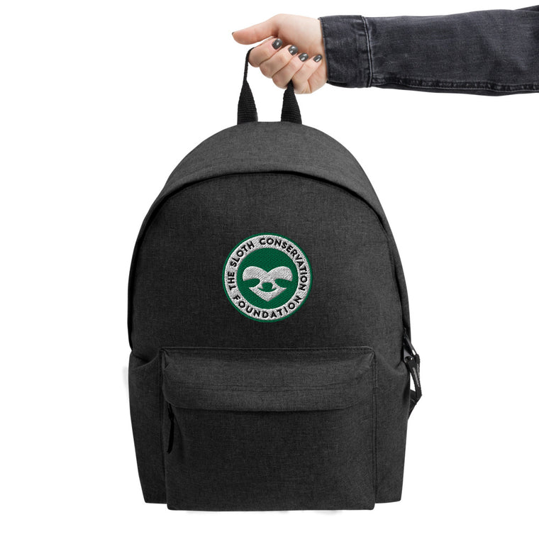 Embroidered SloCo logo Backpack