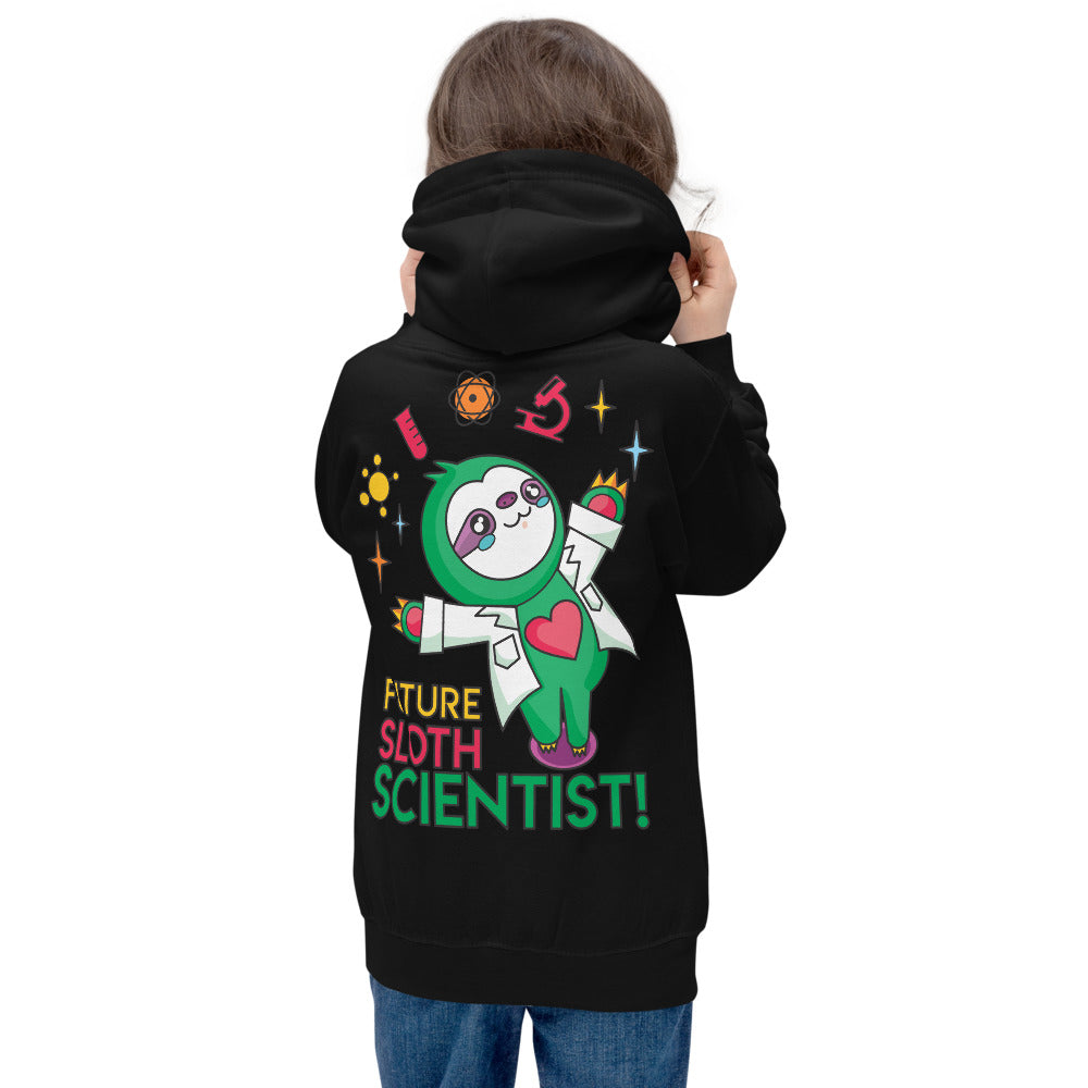 Future Sloth Scientist Kids Hoodie