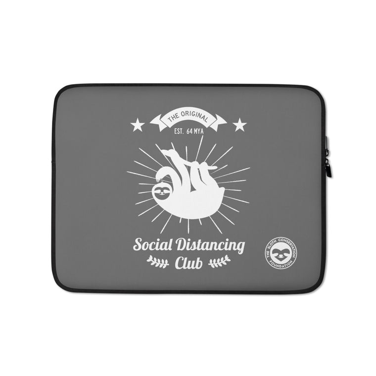 Social Distancing Club (White print) Laptop Sleeve