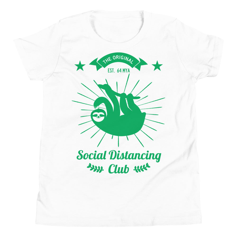 Social Distancing Club Green Print T-Shirt