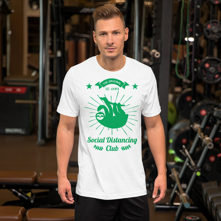 Social Distancing Club Green print Men T-Shirt
