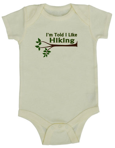 I'm Told I Like Hiking Baby Bodysuit