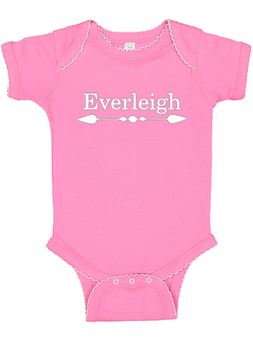 Personalized Baby Bodysuit Customized with Name for Boys, Girls, and Gender Neutral - Arrow Design
