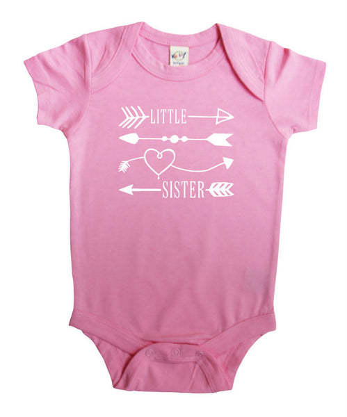 Little Sister Arrows Baby Bodysuit