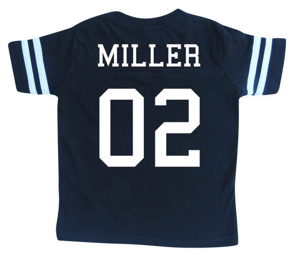 Custom Football Jersey Toddler and Child Personalized with Name and Number