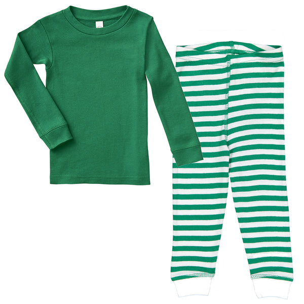 2019 Christmas Plain Pajamas for Baby, Toddler, and Kids