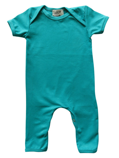 Teal Baby Romper for Boys and Girls