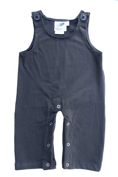 Gender Neutral Baby and Toddler Overalls - Charcoal