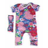 Girls Baby Romper with Matching Headband