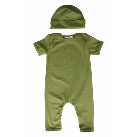 Baby Romper with Matching Hat