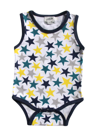 Star Pattern Baby Romper & Bodysuit for Boys and Girls