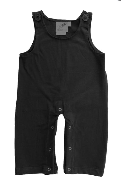 Gender Neutral Baby and Toddler Overalls - Black