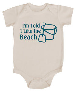 I'm Told I Like The Beach Silhouette Baby Bodysuit