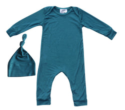 and Girls Gender Neutral Baby Romper with Matching Hat for Boys