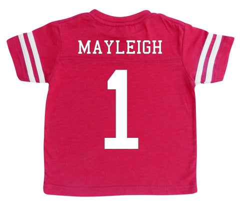big sale 534d6 c33bf Custom Football Jersey Toddler and Child Personalized with ...