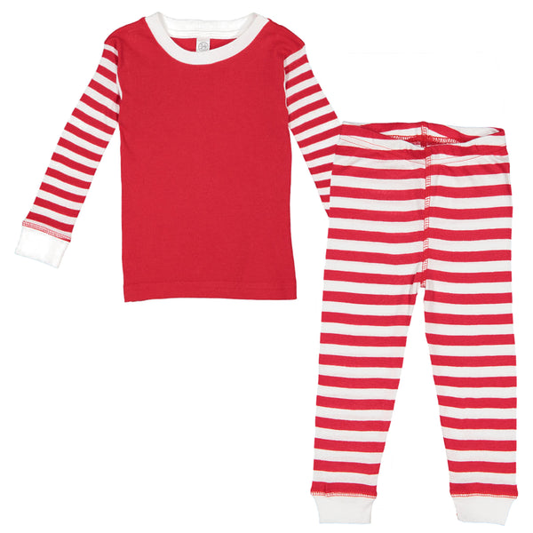 2019 Christmas Plain Pajamas for Babies and Toddlers