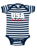 USA Stars Baby Bodysuit for July 4th