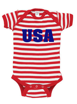USA Baby Bodysuit for July 4th