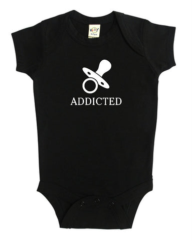 """Addicted"" Silhouette Baby Bodysuit"