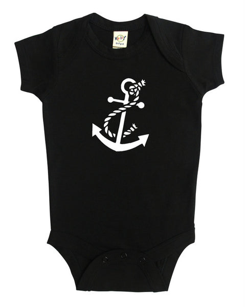 Nautical Anchor Silhouette Baby Bodysuit