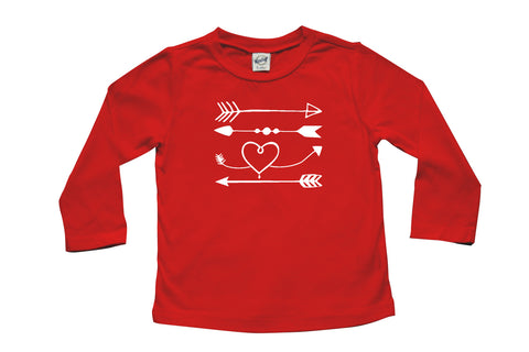 Valentine Love Arrows Long Sleeve T-shirt