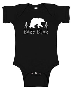 """Baby Bear"" Silhouette Baby Bodysuit-gender neutral, baby gift, baby shower"