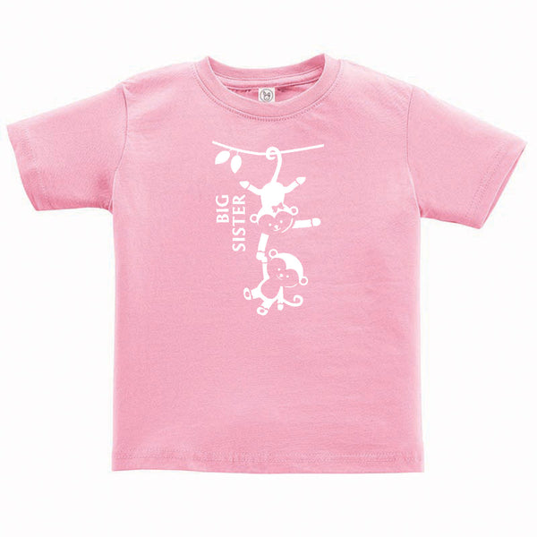 Big Sister Monkey Toddler and Child Shirt