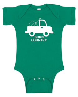 """Born Country"" Truck Baby Bodysuit"