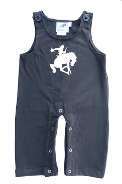 Bucking Cowboy Gender Neutral Baby and Toddler Overalls