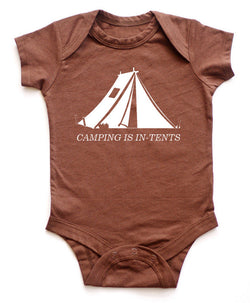 """Camping is in-tents"" Baby Bodysuit"