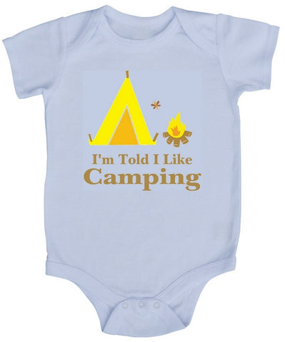 I'm Told I Like Camping Baby Bodysuit