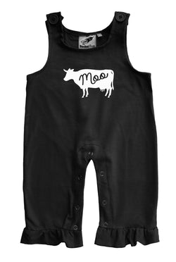 Cow Gender Neutral Baby and Toddler Overalls