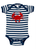 Nautical Crab Silhouette Baby Bodysuit