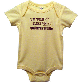 I'm Told I Like Country Music Baby Bodysuit